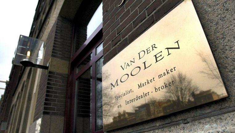 Hoofdkantoor van internationale beurshandelaar Van der Moolen. Foto ANP Beeld