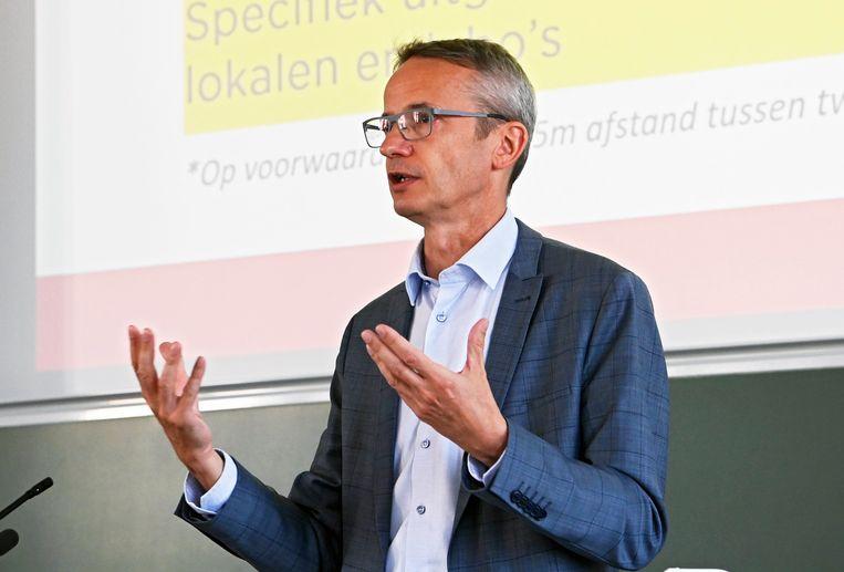 KU Leuven-rector Luc Sels. Beeld Photo News