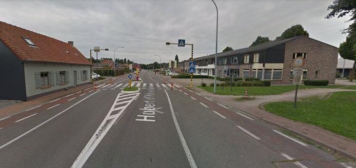 Het zebrapad in de Hubert d'Ydewallestraat in Beernem.