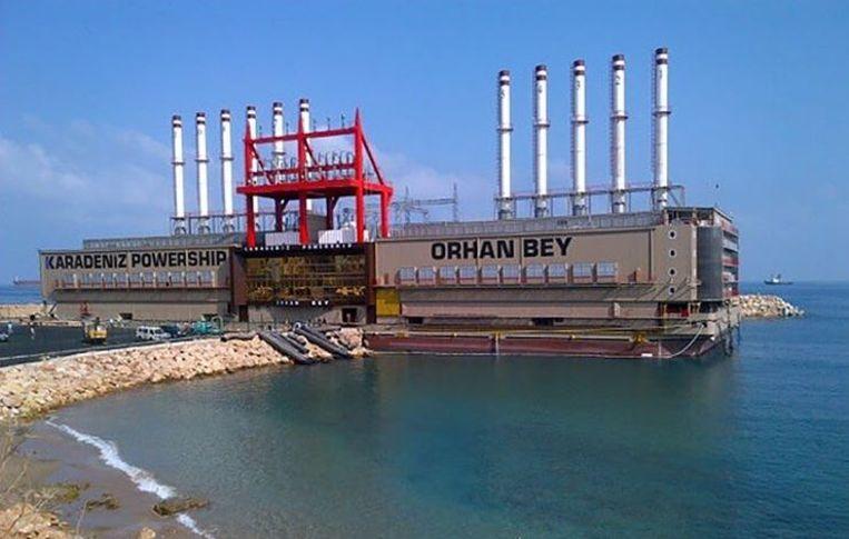 De Turkse marktleider Karadeniz kan in twintig dagen een drijvend stroomplatform uit de Middellandse Zee naar België slepen en heeft veertig dagen nodig om een stroomschip uit het Verre Oosten naar hier te varen. Beeld karpowership/rv