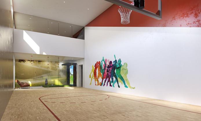 Envie de faire du sport? Direction le terrain de basket privé!