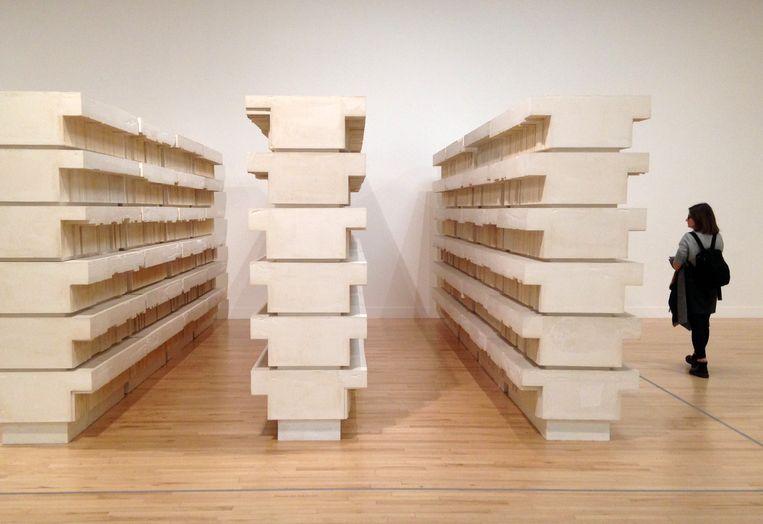 Book Corridors (1997) van Rachel Whiteread Beeld
