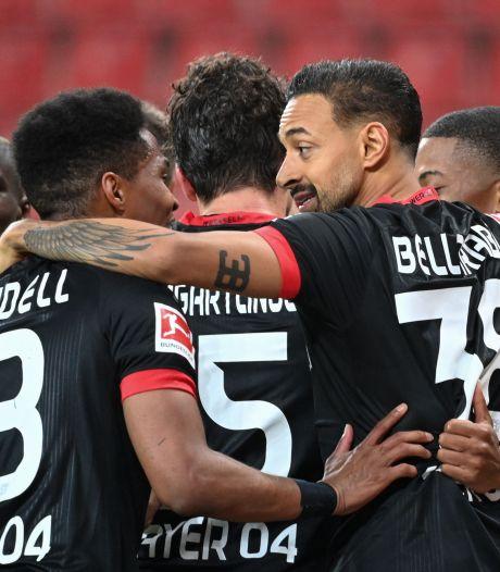 Bosz behoudt met Leverkusen plek in top vier met doelpuntrijke zege op Gladbach
