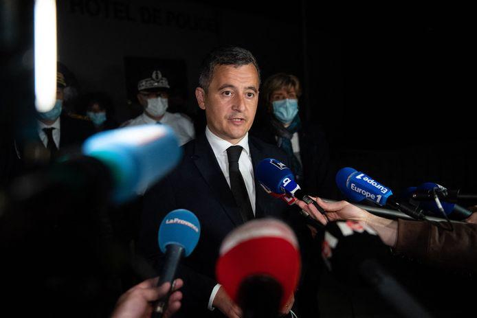 Frans minister van Binnenlandse Zaken Gerald Darmanin zakte gisteravond laat af naar Avignon.