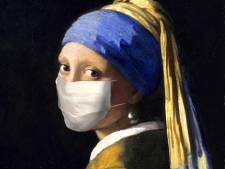 Transformatie: Meisje met de Parel draagt een mondkapje