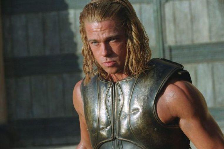 Brad Pitt in Troy. Beeld Brunopress