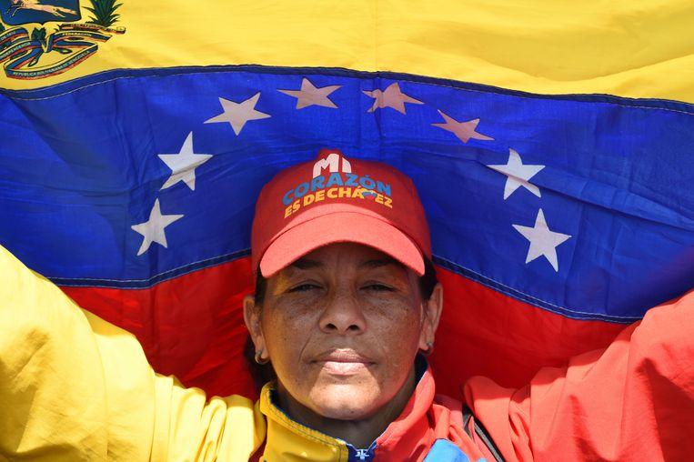 Een supporter van Maduro.  Beeld AFP