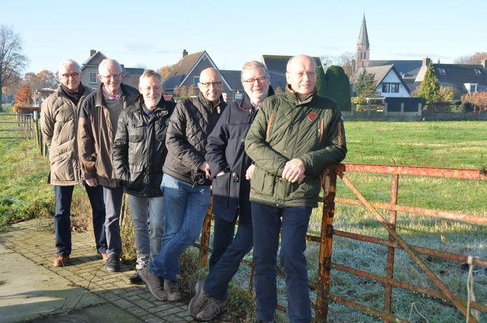 Vlnr Jan Boons, Jos Smits, Kees van Dongen, Marcel Berendse, Piet Boons en Tini Verharen.