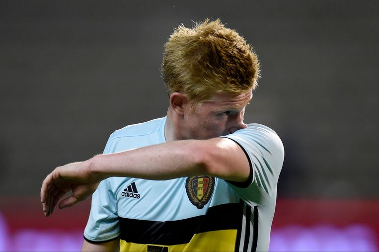 BRUSSELS, BELGIUM - SEPTEMBER 01 :  Kevin De Bruyne forward of Belgium looks dejected  during a FIFA international friendly match between Belgium and Spain at the King Baudouin Stadium on September 01, 2016 in Brussels, Belgium , 1/09/2016 ( Photo by Philippe Crochet / Photonews Beeld null