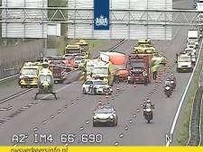 Verkeer rondom Utrecht ontregeld door ongeluk op A2 met meerdere voertuigen
