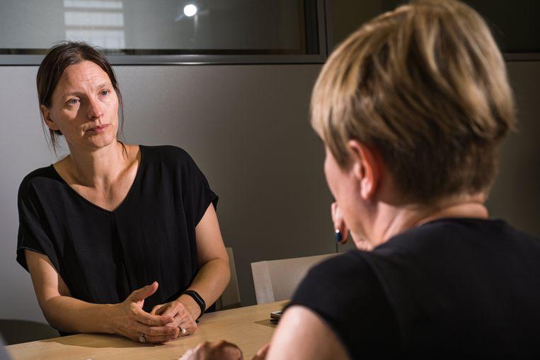 Liesbet Stevens van het Instituut voor de gelijkheid van mannen en vrouwen. Beeld Wouter Maeckelberghe