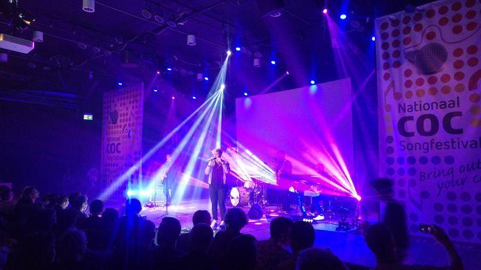 Het Songfestival 2016 in het ZIMIHC Theater Utrecht.