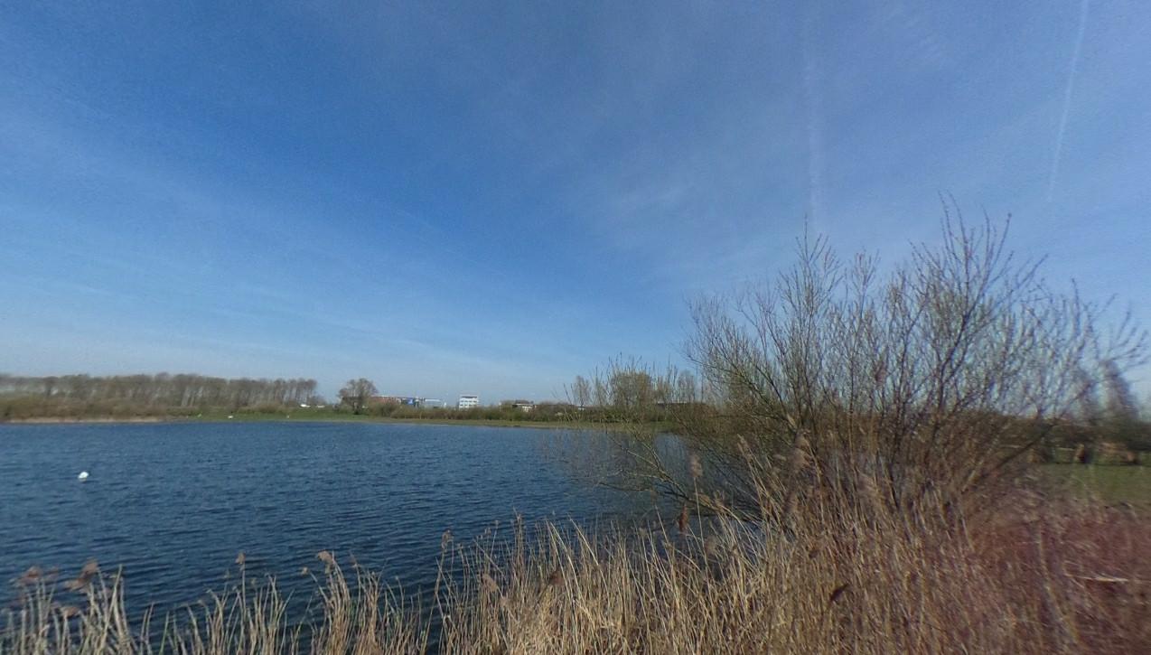 Het Bronsbergenmeer in Zutphen, waar medio juni het nieuwe muziekfestival Festilake wordt gehouden.