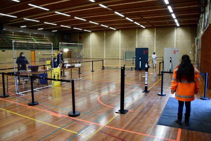 De testlocatie van sporthal Westwijk.