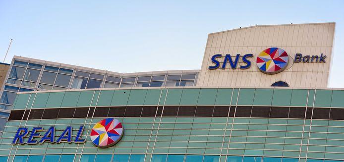 Exterieur van het hoofdkantoor van SNS Reaal in Utrecht.