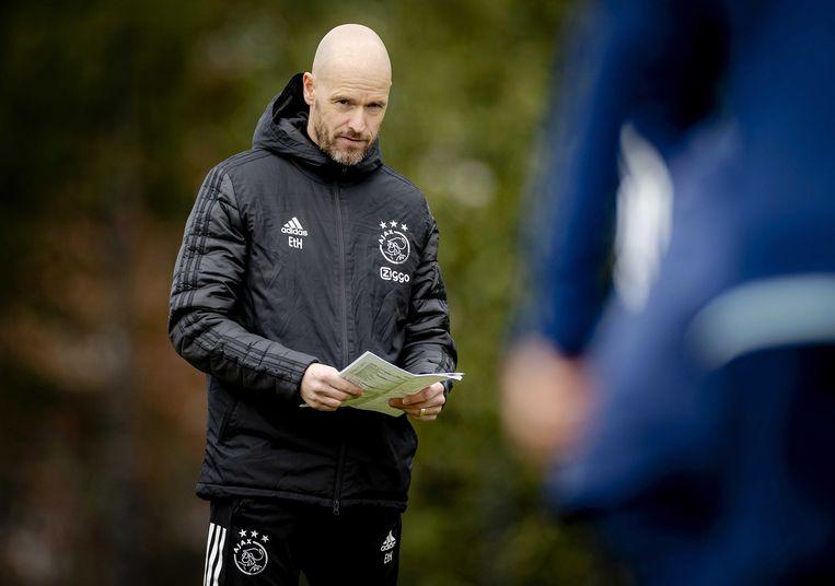 Trainer Erik ten Hag. Beeld EPA