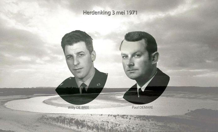 Willy De Bree en Paul Demare werden op 3 mei 1971 doodgeschoten.