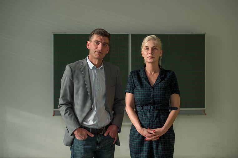 Misha van Denderen en Suzan Polet van de School voor Persoonlijk Onderwijs (SvPO).  Beeld Copyright Andy Astfalck/Orange Pictures