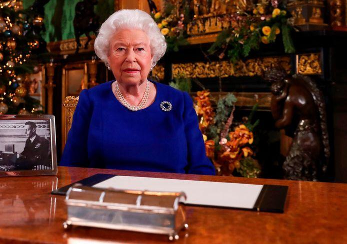 La reine d'Angleterre Elizabeth II lors de son traditionnel discours de Noël en 2019.