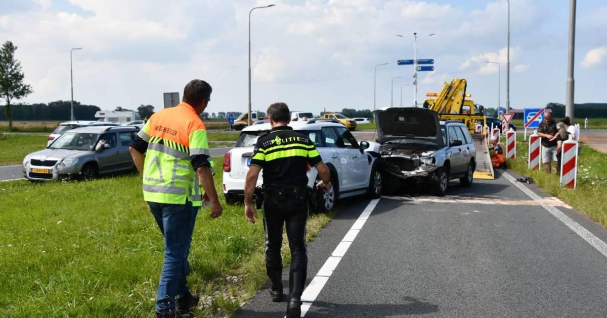 Frontale botsing bij Wissenkerke, twee gewonden.