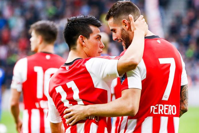 Hirving Lozano en Gastón Pereiro, van hen wordt veel verwacht bij PSV in dit seizoen.