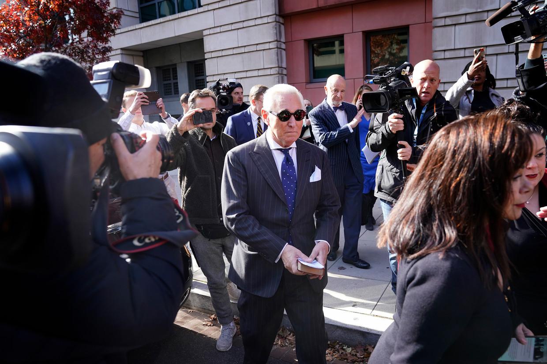 Roger Stone bij de rechtbank in november 2019. Beeld Getty Images