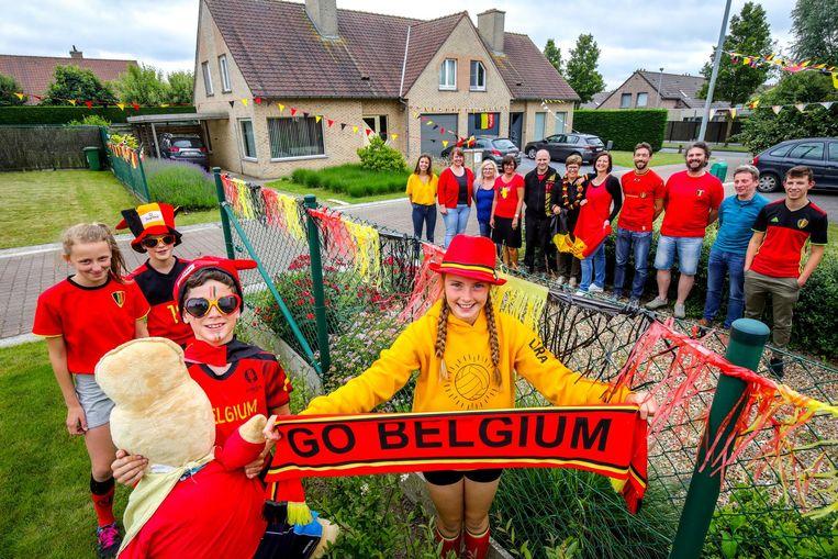 Ook in de Gerstraat is de WK-sfeer al aanwezig.