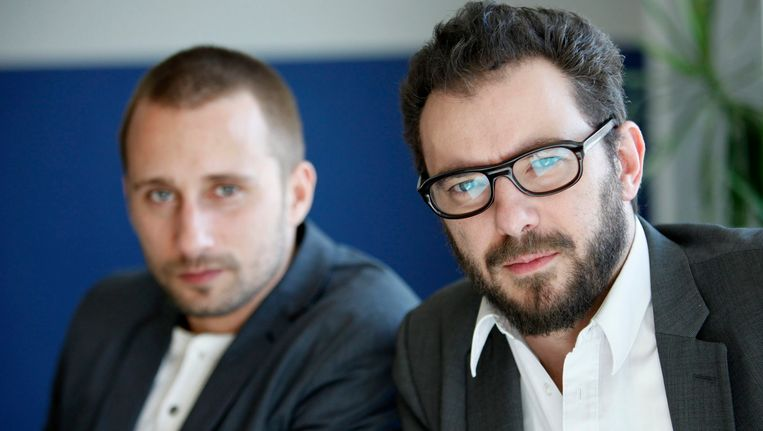 Michaël R. Roskam met de steracteur uit Rundskop: Matthias Schoenaerts. Beeld REUTERS
