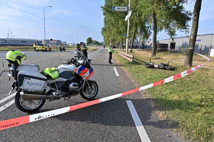 Ongeluk in Moerdijk.