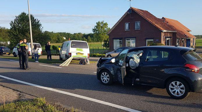 Ongeval op de Coevorderweg in Balkbrug.