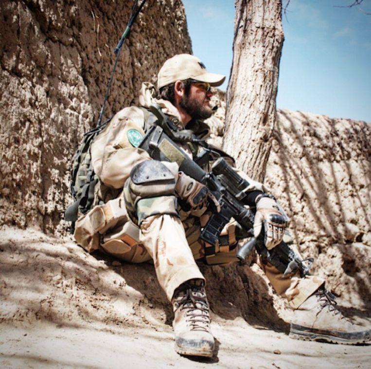 Kenny van Geijlswijk in Afghanistan. Beeld