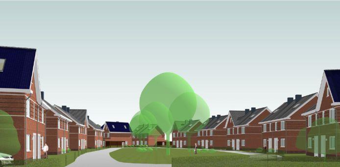 Nieuwbouwplan op locatie van Houthandel Cantrijn in de wijk Doorbos-Linie.