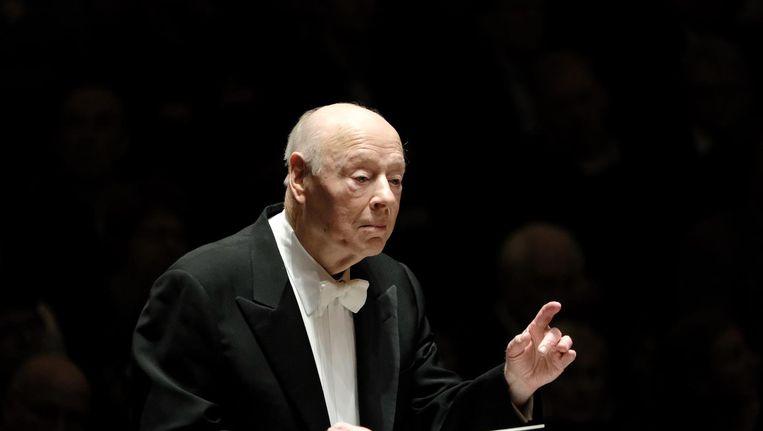 Bernard Haitink in het Concertgebouw (archieffoto) Beeld Mladen Pikulic