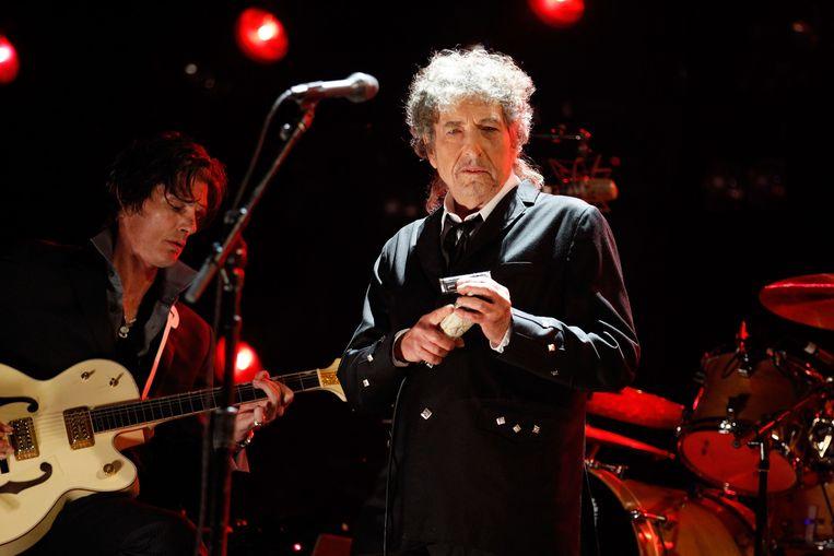 Bob Dylan tijdens een concert in 2012. Beeld Getty Images