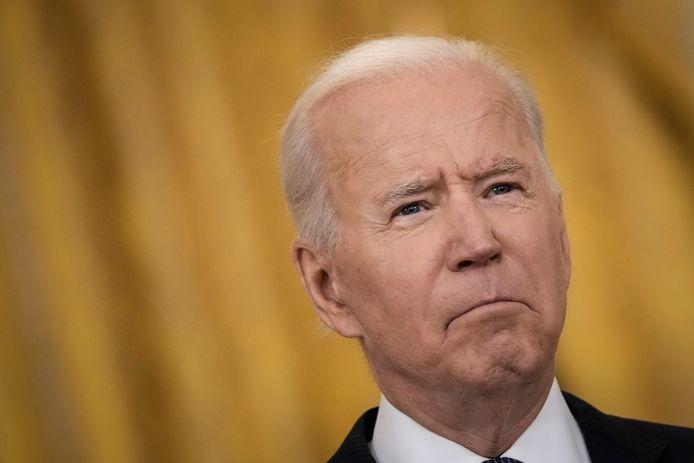 Joe Biden gisteren in Het Witte Huis.