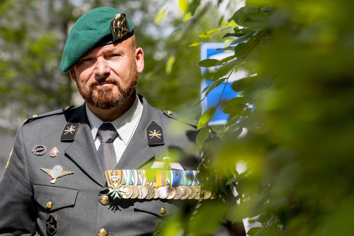Marco Kroon, drager van de de Militaire Willems-Orde.
