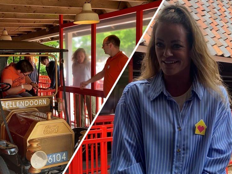 Inge de Bruijn in Avonturenpark Hellendoorn voor Het Vergeten Kind: 'Even geen zorgen'
