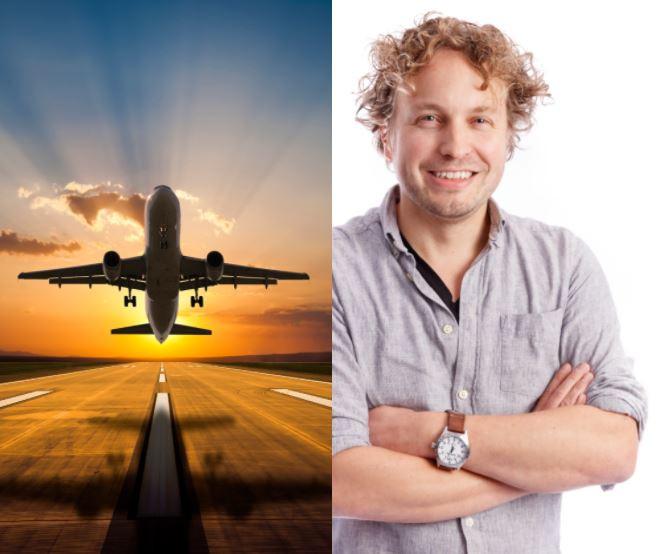 Een vliegreis met een coronaprik op de vakantiebestemming; het is wel het nuttige met het aangename verenigen, zag columnist Niels Herijgens.