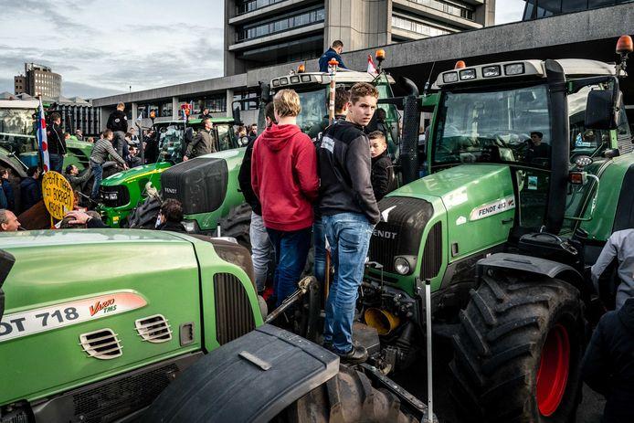 Eind oktober stonden de boeren ook al met hun tractors voor de deur van het provinciehuis in Den Bosch.