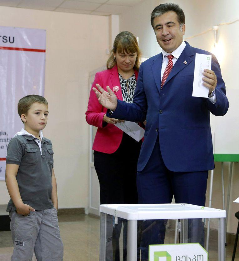 De Georgische president Saakasjvili. Beeld AP