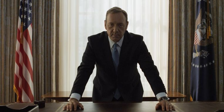 Frank Underwood in 'House of Cards'. Beeld rv