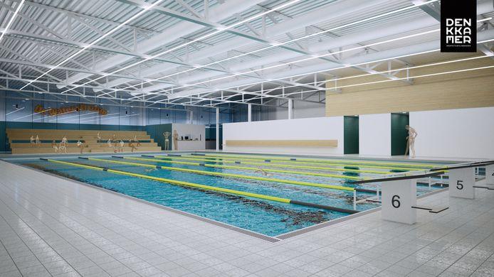 Een impressie van het nieuwe bad van plan Waterstroom in Gemert.