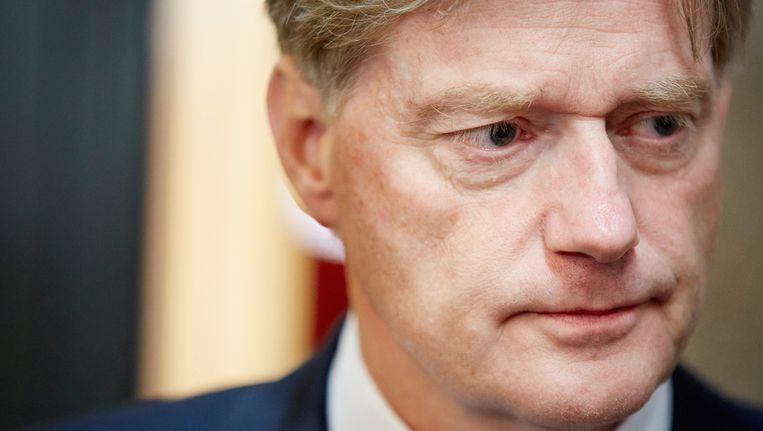 Staatssecretaris Martin van Rijn na het debat in de Tweede Kamer over de aanhoudende betalingsproblemen met het persoonsgebonden budget (pgb). Beeld anp