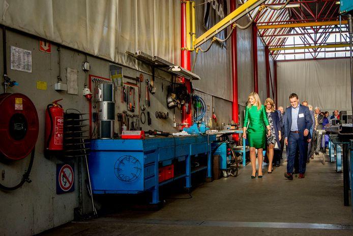 Koningin Máxima was in Delft bij de presentaie van 'De Staat van het MKB 2017'.