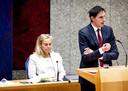 Sigrid Kaag, demissionair minister van Buitenlandse Handel en Ontwikkelingssamenwerking, en Wopke Hoekstra, demissionair minister van Financiën.