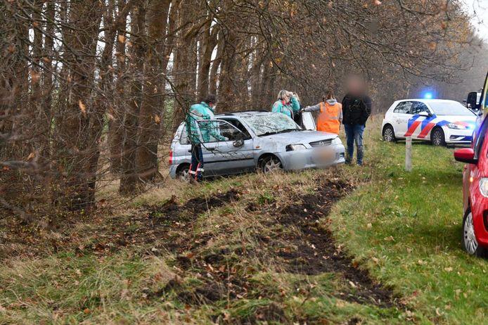 Eenzijdig ongeval op de N36 ter hoogte van Sibculo
