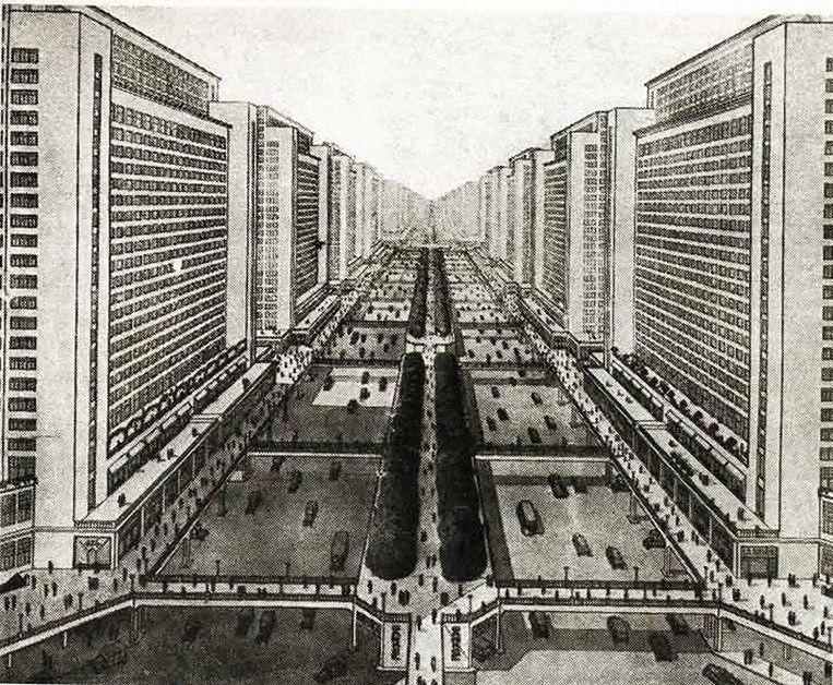 Als het aan Le Corbusier had gelegen, zag Parijs er nu zo uit. Beeld Corbusier