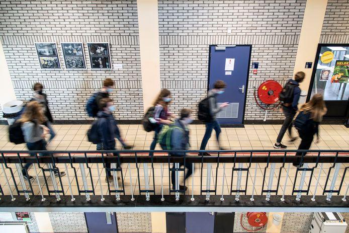 Het Stedelijk Gymnasium Nijmegen, een dag voor de lockdown.