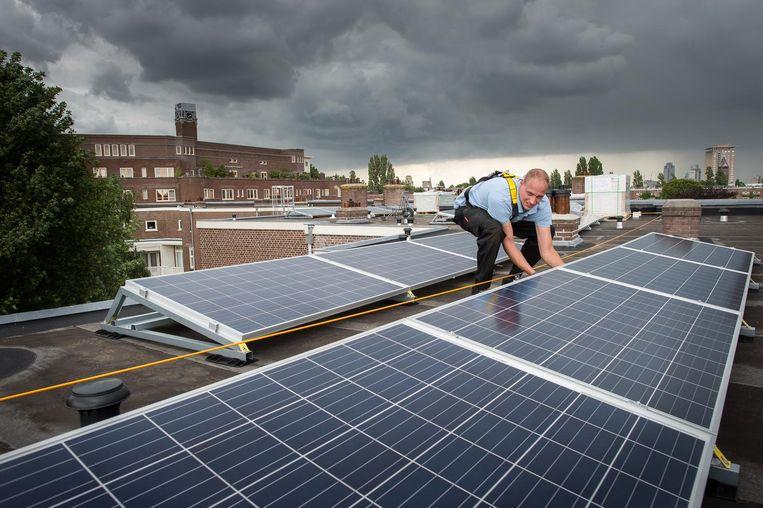 De leges op zonnepanelen worden afgeschaft. Beeld Mats van Soolingen