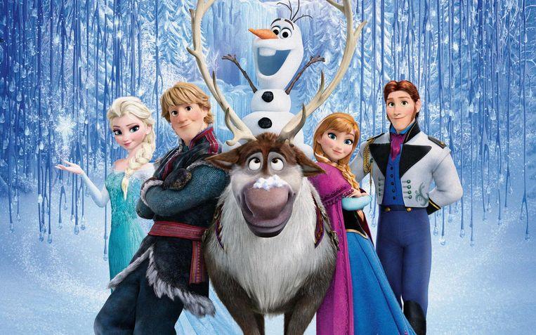 Een beeld uit de animatiefilm 'Frozen', die als film vol meezingers – 'Let it Go', iemand? – goed blijft scoren bij kinderen. Beeld Disney